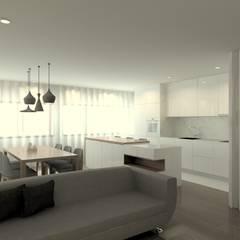 Remodelação de Apartamento - Centro Histórico de Braga: Cozinhas  por QOTDA Design