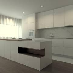 Remodelação de Apartamento - Centro Histórico de Braga Cozinhas modernas por QOTDA Design Moderno