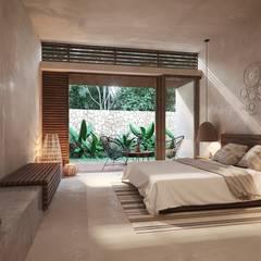 Bedroom by Construcciones del Carmen