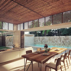Living room by Construcciones del Carmen