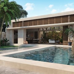 Pool by Construcciones del Carmen