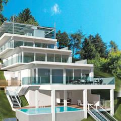 Terrassenwohnung, Kärnten:  Villa von M.I.A. Müller. Innen. Architektur.