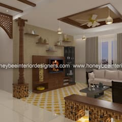 Ruang Keluarga oleh Honeybee Interior Designers