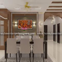 اتاق غذاخوری توسطHoneybee Interior Designers