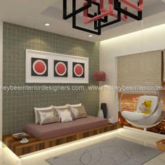 :  Study/office by Honeybee Interior Designers