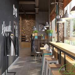 Интерьер кафе в стиле лофт: Столовые комнаты в . Автор – Компания архитекторов Латышевых 'Мечты сбываются'