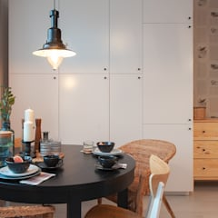 KAWALERKA/SMALL FLAT: styl , w kategorii Jadalnia zaprojektowany przez Pasja Do Wnętrz