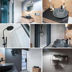 KAWALERKA/SMALL FLAT: styl , w kategorii Łazienka zaprojektowany przez Pasja Do Wnętrz