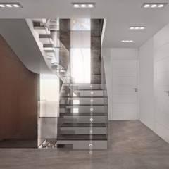 Частный Дом: Лестницы в . Автор – FIMA design