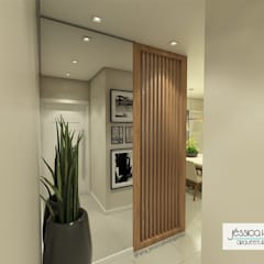 Pasillos y vestíbulos de estilo  por Arquiteta Jéssica Hoegenn - Arquitetura de Interiores