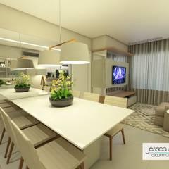 Apartamento M&G Salas de jantar tropicais por Arquiteta Jéssica Hoegenn - Arquitetura de Interiores Tropical