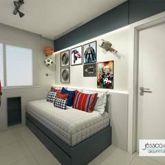 Apartamento M&G: Quartos de adolescente  por Arquiteta Jéssica Hoegenn - Arquitetura de Interiores