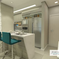 Cocinas pequeñas de estilo  por Arquiteta Jéssica Hoegenn - Arquitetura de Interiores