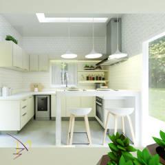 Sítio em Santa Rita do Passa quatro - SP: Cozinhas  por MD&D Arquitetura e Interiores