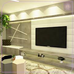Sala de TV Salas de estar escandinavas por MD&D Arquitetura e Interiores Escandinavo