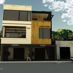 Plaza Trébol: Edificios de Oficinas de estilo  por GT-R Arquitectos