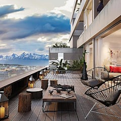 Balcón de estilo  por R2arquitectos