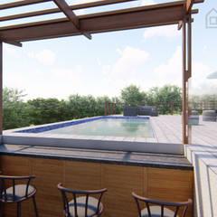 Estate Living 2_ Ballito, KZN:  Pool by Tiaan Botha Architecture & Associates