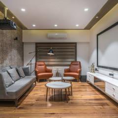 Salas de entretenimiento de estilo moderno de F.Quad Architecture and Interior Design Studio Moderno
