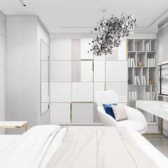 jasne wnętrze sypialni córki: styl , w kategorii Pokój młodzieżowy zaprojektowany przez ARTDESIGN architektura wnętrz