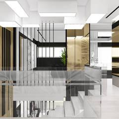 TURN-UP FOR THE BOOKS   I   Wnętrza domu : styl , w kategorii Korytarz, przedpokój zaprojektowany przez ARTDESIGN architektura wnętrz