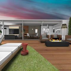 Casa em Gaia Varandas, marquises e terraços modernos por Form Arquitetura e Design Moderno Madeira Acabamento em madeira