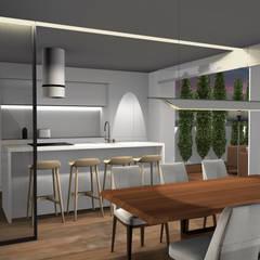 Cozinha open space: Cozinhas embutidas  por Form Arquitetura e Design