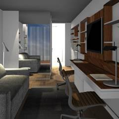 Home office flexivel: Escritórios e Espaços de trabalho  por Form Arquitetura e Design