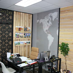 :  Commercial Spaces by Wood Lovers - Custom Designed Living, Asian Solid Wood Multicolored