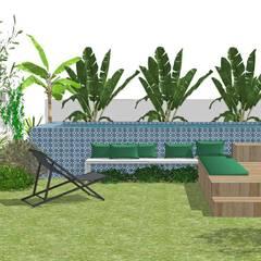 Etudes de projets Slowgarden: Jardin de style  par Slowgarden, Tropical