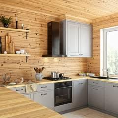 Kuchnia w drewnie z okapem VERTA 60: styl , w kategorii Kuchnia zaprojektowany przez GLOBALO MAX