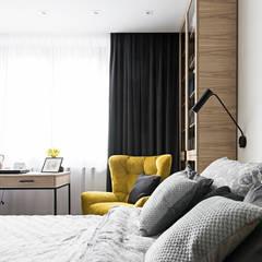 sypialnia - Ogrodowa: styl , w kategorii Małe sypialnie zaprojektowany przez MMA Pracownia Architektury