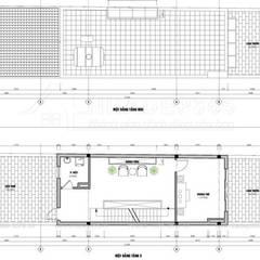 Thiết Kế Nhà Phố 4 Tầng Diện Tích 5,1×22m Phong Cách Tân Cổ Điển Tại Hưng Yên:  Khách sạn by THIẾT KẾ NHÀ ĐẸP 365