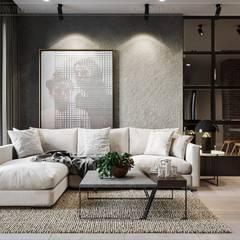 Phong cách Công nghiệp (Industrial style) trong thiết kế nội thất căn hộ Sunrise Cityview:  Phòng khách by ICON INTERIOR