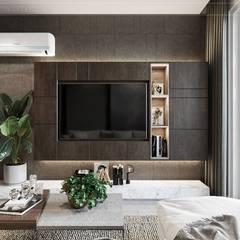 Salas / recibidores de estilo  por ICON INTERIOR