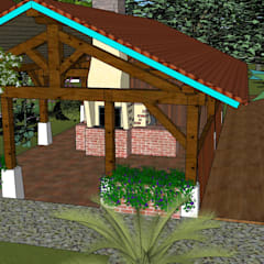 Visite 3D de proposition d'aménagement paysagé sur Sud des Landes.: Jardin de style  par Conseils en aménagement paysagés Intérieurs/Extérieurs, Moderne