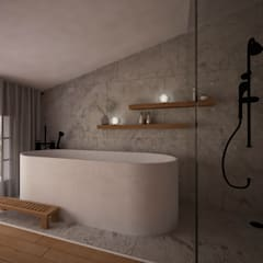 CASA MÁLAGA: Baños de estilo  de nowheresoon. estudio creativo en madrid
