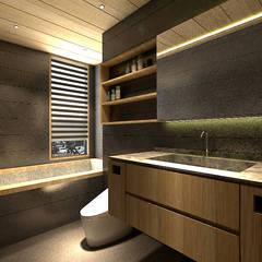 Bathroom by 青易國際設計
