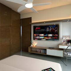 Apartamento Violetta: Cuartos pequeños de estilo  por Tabasca Architecture & Design,