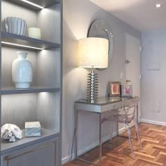 Departamento Palermo: Pasillos y recibidores de estilo  por Estudio Nicolas Pierry,Moderno