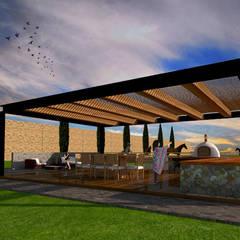 Rancho Puerta Colorada: Terrazas de estilo  por AR Arquitectura y Diseño