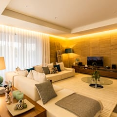 Moradia em Viseu - SHI Studio Interior Design: Salas de estar  por SHI Studio, Sheila Moura Azevedo Interior Design,Moderno