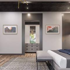 ANTE MİMARLIK  – Balıkesir Villa:  tarz Giyinme Odası