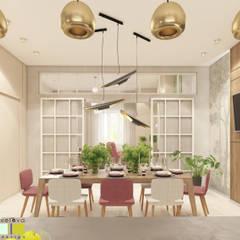 Зеленая роща: Столовые комнаты в . Автор – Мастерская интерьера Юлии Шевелевой