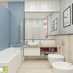 Зеленая роща: Ванные комнаты в . Автор – Мастерская интерьера Юлии Шевелевой