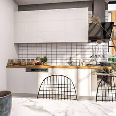 Cocinas pequeñas de estilo  por ANTE MİMARLIK