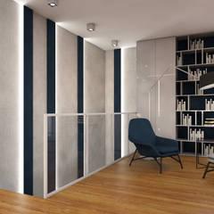 Nowoczesny apartament: styl , w kategorii Ściany zaprojektowany przez MJanimo sp. z o.o