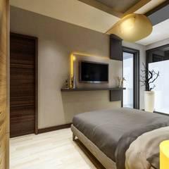 ANTE MİMARLIK  – Villa Fener Burnu:  tarz Yatak Odası