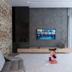Casa Escudero: Pasillos y recibidores de estilo  por Taller Siete Nueve Arquitectura, Ecléctico