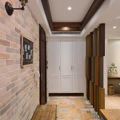 I Feel The Earth Move 怦然心動 乡村风格的走廊,走廊和楼梯 根據 大福空間設計有限公司 鄉村風